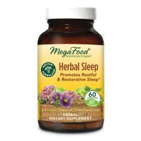 MegaFood, Herbal Sleep, Doctor Recommended and Made with Organic Ashwagandha, Hops and Passion Flower, Vegetarian 60 Capsules