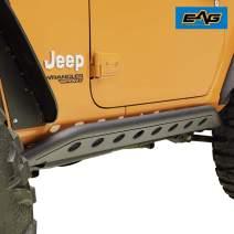 EAG Steel Tubular Round Hole Rock Sliders Fit for 18-20 Jeep Wrangler JL 2 Door