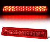 Red Housing LED High Mount 3rd Third Tail Brake Light Lamp Replacement for Chevy Colorado/GMC Canyon 15-18