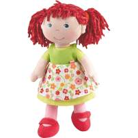 "HABA Liese 12"" Soft Doll with Blue Eyes, Red Pigtails for Ages 18 Months and Up"