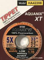 Hitena Aquanix - Fluorocarbon Fly Tippet (33yd) Made from The Highest Grade Fluorocarbon. Supple. Less Memory. Super Abrasion Resistance