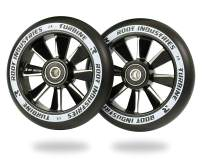 ROOT INDUSTRIES 110mm Turbine Wheels - Pro Scooter Wheels 110mm Pair - Scooter Wheels - Fits Most Setups - 24mm x 110mm - Bearings Installed - 90 Day Warranty - 110mm Scooter Wheels - Scooter Parts
