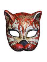 Venetian Half Face Cat Mask Gatto Cabare for Women