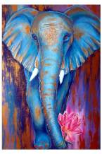 Mobicus 5D DIY Full Diamond Diamond Painting,Living Room Decorative Wall Stickers Wallpaper, Elephant(30X40CM/12X16inch)
