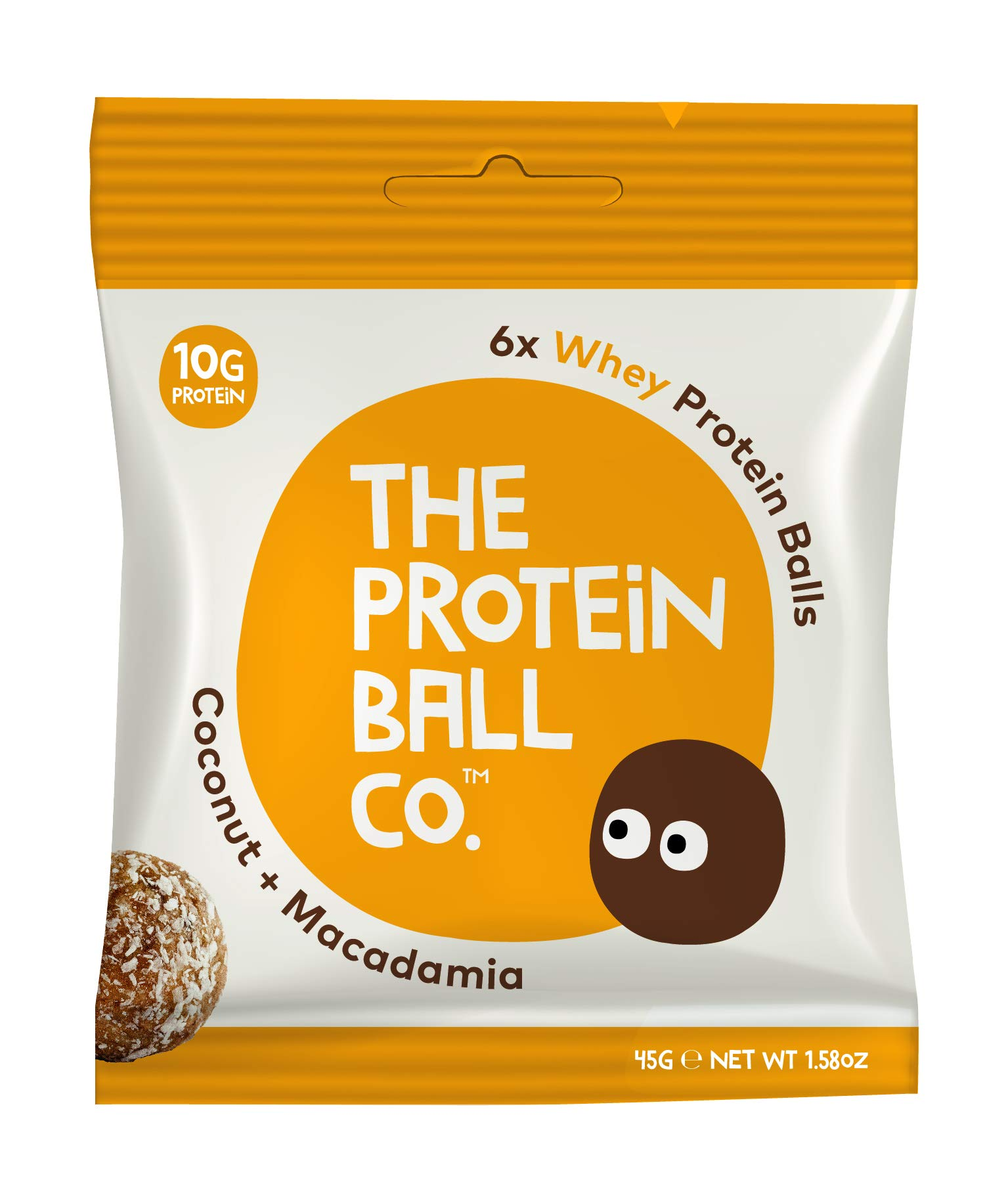 The Protein Ball Co. Keto Whey Protein Bites | 10 Pack | Coconut Macadamia | All Natural, Gluten Free, Vegetarian, Non GMO, Healthy High Protein Snacks, No Added Sugar