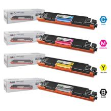 LD Remanufactured Toner Cartridge Replacement for HP 126A (Black, Cyan, Magenta, Yellow, 4-Pack)
