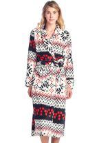 Casual Nights Women's Long Fleece Plush Robe Soft Feeling Bathrobe