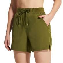 "BALEAF Women's 5"" Hiking Shorts with Zip Pocket Quick Dry Athletic Running Shorts Elastic Waist"