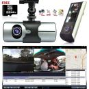 "Indigi Dash Cam 2.7"" LCD HD Dual Cam Car DVR Black Box w/GPS Tracker + G-Sensor + 32GB"
