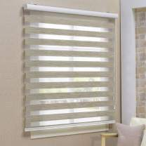 Keego Window Blinds Custom Cut to Size, Blackout Autumn Zebra Blinds with Dual Layer Roller Shades, [Size W 35 x H 56] Dual Layer Sheer or Privacy Light Control for Day and Night, 12 to 94 Wide