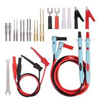 23Piece Electrical Multimeter Test Leads Kit Professional and Upgraded Test Leads Set with Replaceable Gold-Plated Multimeter Probes, Alligator Clips, Test Hooks and Back Probe Pins