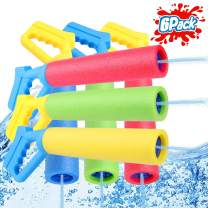 TNELTUEB 6-Pack Foam Water Blaster, Water Squirt Guns, Shooting Up to 30 Feet Outdoor Swimming Pool Summer Fun Party Games Water Toys Water Gun for Kids Teens Adults