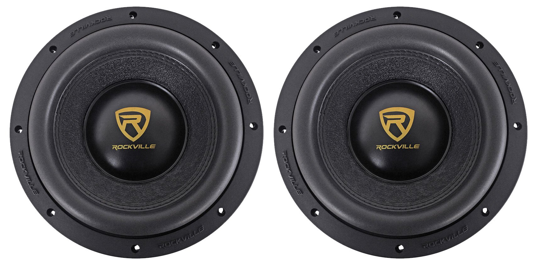 """(2) Rockville W10K9D4 10"""" 6400 Watt Car Audio Subwoofers Dual 4-Ohm Subs"""