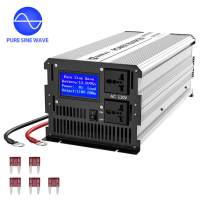 Anbull 3000W Pure Sine Wave Power Inverter DC 12V to AC 110V, Car Power Inverter Converter Transformer with Dual AC Outlets & Large LCD Display