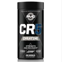PMD Sports CR5 Professional Creatine Complex - Improved Recovery, Reduce Soreness, Lean Muscle Mass Gainer - Power 5 Creatine Blend for Strength, Endurance, and Recovery (240 Creatine Capsules)