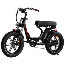 Addmotor MOTAN Electric Bike Step-Through 20 inch Fat Tire 750W Motor E-Bike Removable 12.8Ah Lithium Battery Throttle Pedal Assist M-66 R7 Power Bikes for Adults+Fenders+Headlight