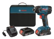 Bosch 25618-02 18-Volt Lithium-Ion 1/4-Hex Impact Driver Kit with 2 Batteries, Charger and Bag