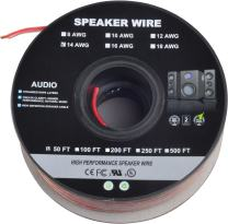 50ft 14AWG Enhanced Loud Oxygen-Free Copper Speaker Cable