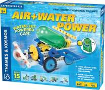 Thames & Kosmos Air + Water Power   Build 15 Pneumatic & Hydraulic Models   Powered by Air + Water   48 Page Full Color Experiment Manual   Science & Engineering Kit