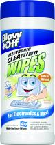 Max Professional Blow Off 2091 Electronic Cleaning Wipes, (40 wipes)
