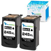 InkWorld Remanufactured 245XL Ink Cartridge Replacement for Canon PG-245 XL to Use with Pixma MG2520 TR4520 TS302 TS3120 TS202 MG2920 MG2922 MX492 MG2525 MX490 MG2522 MG3020 MG2420 Printer (2 Black)