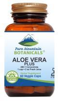 Aloe Vera Plus Capsules. 200:1 Extract. Kosher Organic Dried Aloe Vera Gel, Marshmallow Root, Slippery Elm