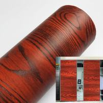 "YIZUNNU Self Adhesive Contact Paper Wood Grain Cabinet Door Sticker Shelf Liner Dresser Drawer Sticker,24""x78.7"""