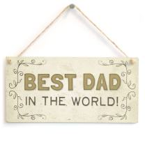"""Meijiafei Best Dad in The World! - Beautiful Home Accessory Gift Sign for Fathers 10""""x5"""""""