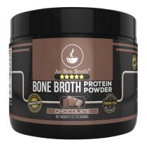 Genuine Grass Fed Organic Bone Broth Protein Powder Collagen 4oz. Chocolate Flavor 7 Servings, Mixes Instantly, Gluten Free Pasture Raised 100% Sourced, Made in USA, NOT from Concentrate (Sample Size)
