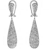 Dazzlingrock Collection 1.25 Carat (ctw) 14k Round Diamond Ladies Dangling Drop Earrings, White Gold