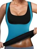 RIBIKA Women Neoprene Sauna Suit Vest Body Shaper Hot Sweat Weight Loss Compression Top