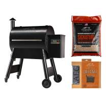 Traeger Grills Pro Series 780 Wood Pellet Grill and Smoker Bundle with Cover and Signature Pellets Featuring Alexa and WiFIRE Smart Home Technology - Black