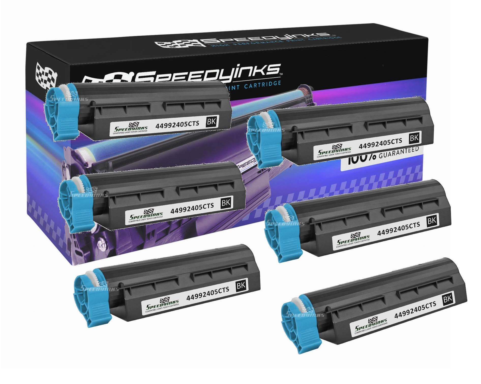 Speedy Inks Compatible Toner Cartridge Replacement for Okidata 44992405 (Black, 6-Pack)