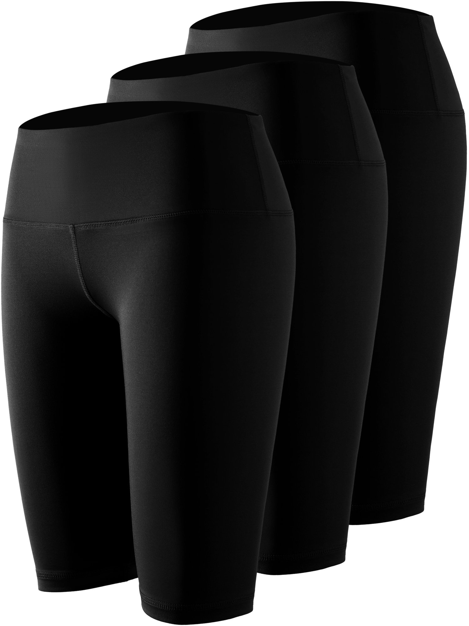 Cadmus Women's High Waist Workout Running Compression Shorts with Pocket