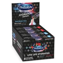 Pedialyte AdvancedCare Plus Hydration Station Multipack, Electrolyte Hydration Drink, 0.6-oz Electrolyte Powder Packets, 80 Count