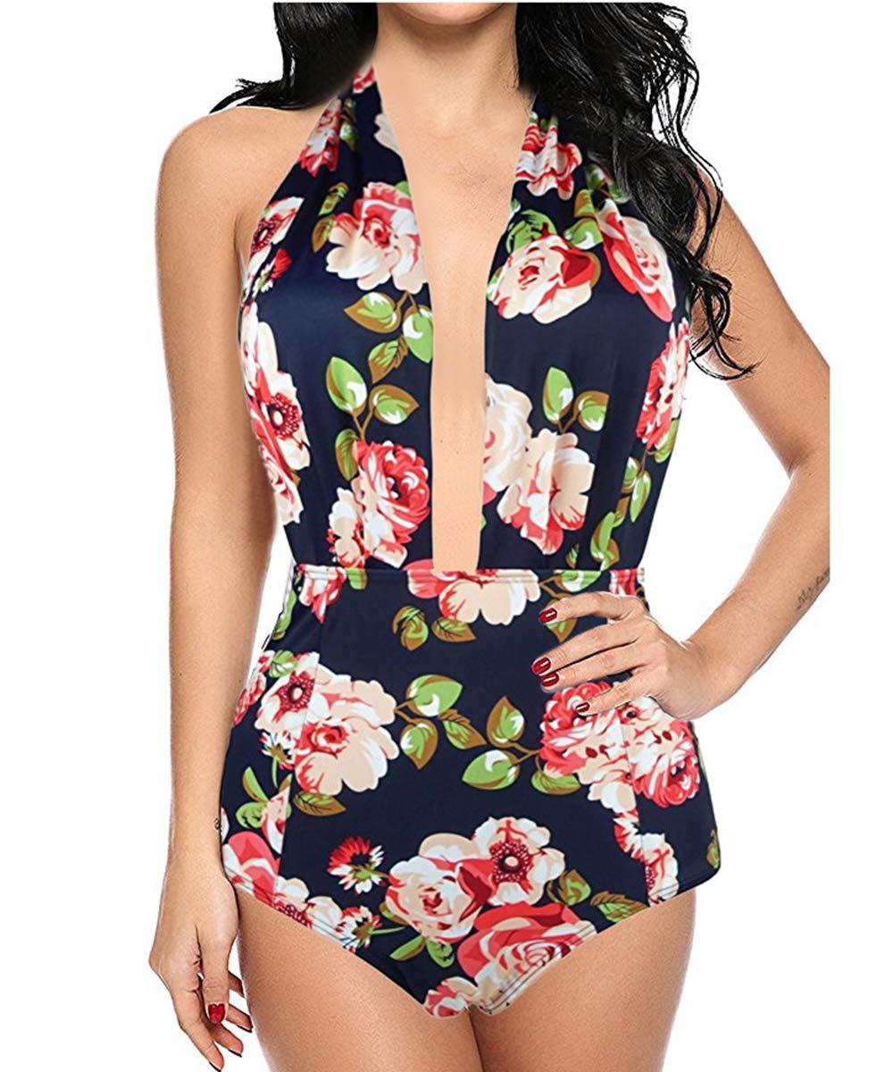 Bathing Suits One Piece Swimsuits for Women Girls Backless Bikini Classic Strips Chic Swimwear