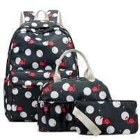 Sunborls Nylon School Bookbag College Backpack Travel Laptop backpacks 3 in 1