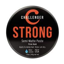 Challenger Men's Strong Semi-Matte Paste, 1.5 Ounce | Super Firm All-Day Hold, Water Based, Clean & Subtle Scent, Travel Friendly | Slick Finish | Easy Rinse, Mega Hold, Premium Hair Styling Product