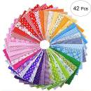 42pcs 10 x 10 inch Cotton Squares Quilting Sewing Floral Precut Fabric Sheets for Patchwork Cotton Craft Sheets for DIY Sewing Patches