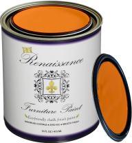 Retique It RFP-P16-Pumpkin by Renaissance Chalk Finish Paint, 16 oz (Pint), Pumpkin 44