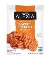 Alexia Waffle Cut Sweet Potato Seasoned Fries, Non-GMO Ingredients, 20 oz (Frozen)