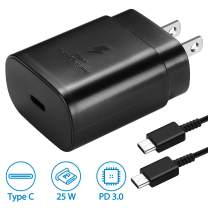 USB C Wall Charger, PD 25W Fast Charger for Samsung Galaxy Note10/ 10+/ S20/ S10 5G Model, 2018 iPad Pro 11/12.9, Galaxy S10/ S9/ S8/ Plus, Google Pixel 4/ 4XL/ 3/ 3XL/ 3a/ 2/ 2XL and More
