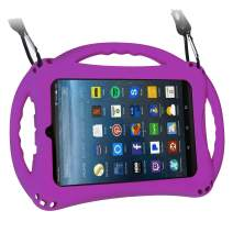 TopEsct Kid-Proof Case for Amazon Fire 7 Tablet (ONLY Compatible with 7th Generation Tablets, 2017 Releases) Handle Stand Cover Case for Kids (Purple)