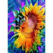 DIY 5D Diamond Painting by Number Kits, Full Drill Crystal Rhinestone Embroidery Pictures Arts Craft for Home Wall Decor Gift,Sunflower