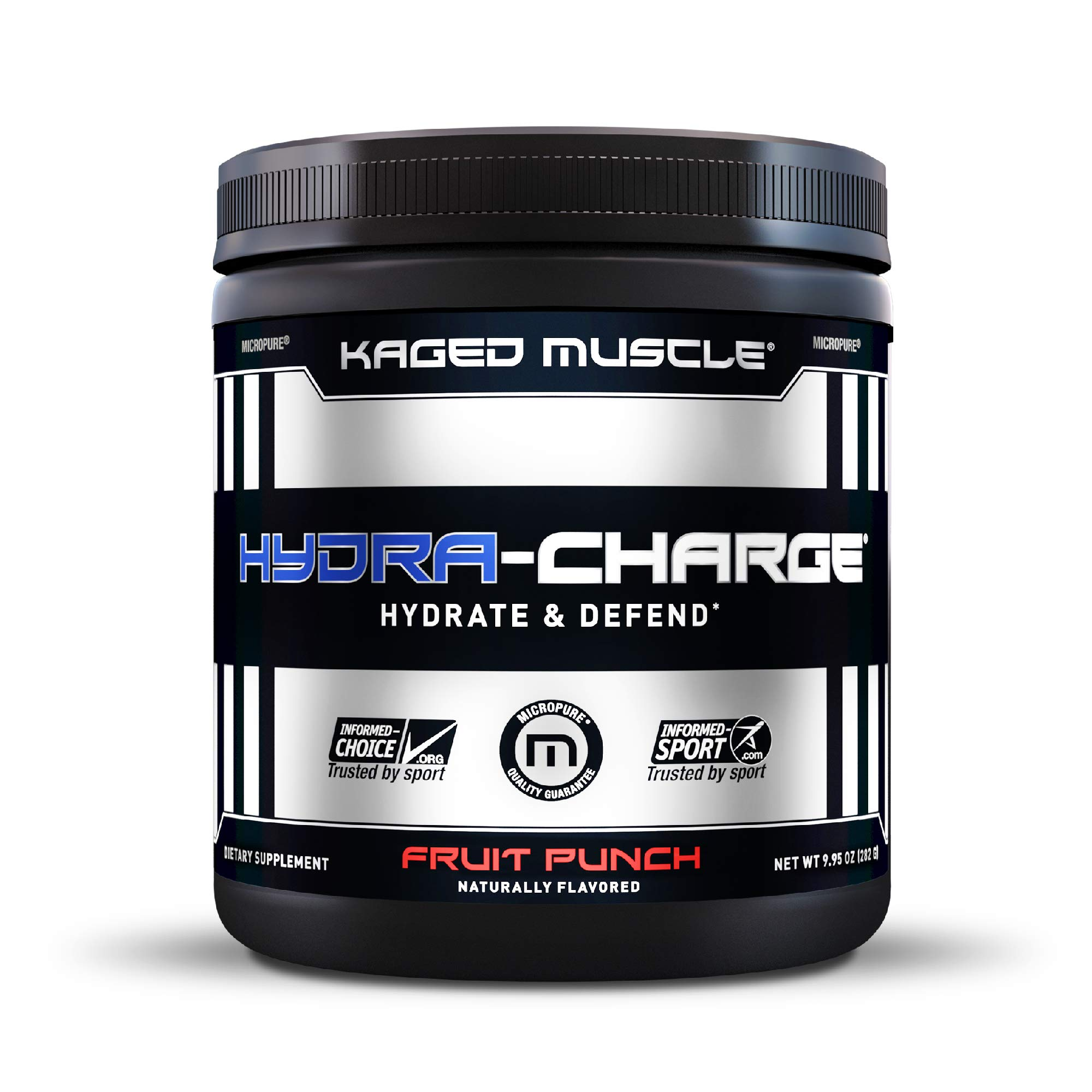Electrolytes, Kaged Muscle Hydra-Charge Premium Electrolyte Powder, Hydration Electrolyte Powder, Pre Workout, Post Workout, Intra Workout, Fruit Punch, 60 Servings