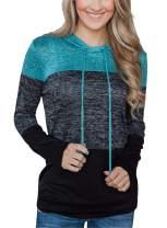 Asyoly Sweatshirts for Women Women's Sweatshirt Women's Long Sleeve Tops Casual Color Block Pullover Loose Tops