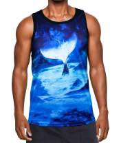 Kayolece Mens Womens Cool Tank Tops Unisex 3D Printed Realistic Graphic Sleeveless Casual Workout T-Shirt