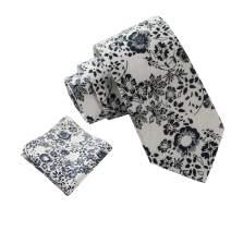 Espiaye Apparel Mens Luxury Italian 100% Cotton Tie and Pocket Square Necktie Set Great Gift