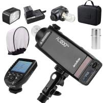 GODOX AD200 Pro with Godox Xpro-C Trigger for Canon, 200Ws 2.4G Flash Strobe, 1/8000 HSS, 500 Full Power Flashes, 0.01-1.8s Recycling, 2900mAh Battery, Bare Bulb/Speedlite Fresnel Flash Head