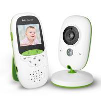 FITNATE Portable Video Baby Monitor with LCD Display, Digital Camera, Infrared Night Vision, Two Way Talk Back, Temperature Monitoring, Lullabies, Long Range and High Capacity Battery,Green